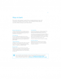 Ways to bank | Hayle Reason For Closure booklet